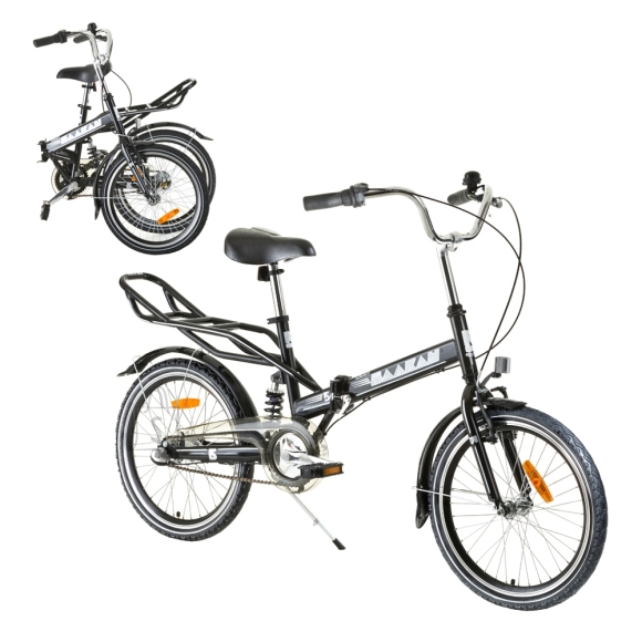 "Reactor Folding Bike Reactor Comfort 20"" - Black"