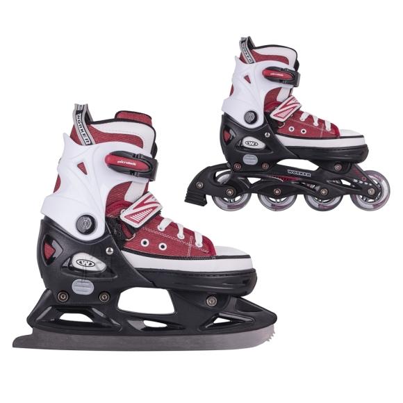 Worker 2-in-1 Skates/Rollerblades WORKER Gondo Red - L (40-43)