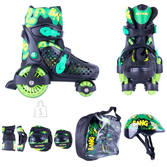 Children???s Roller Skating Set Action Darly Boy - Green-Black XS 26-29