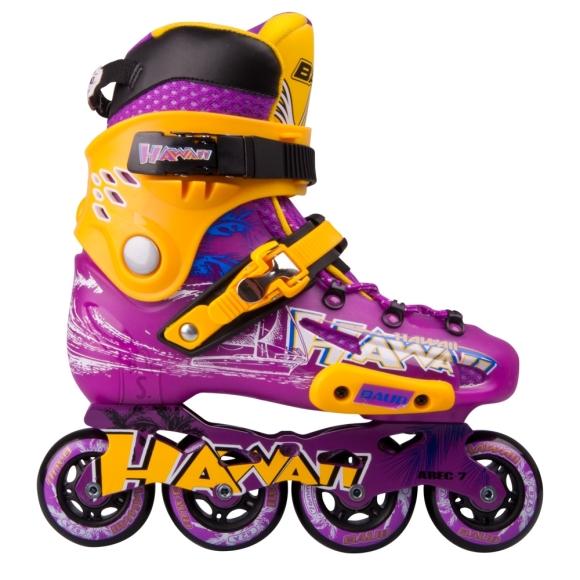 Inline Skates Baud BD276 - Violet-Yellow 39