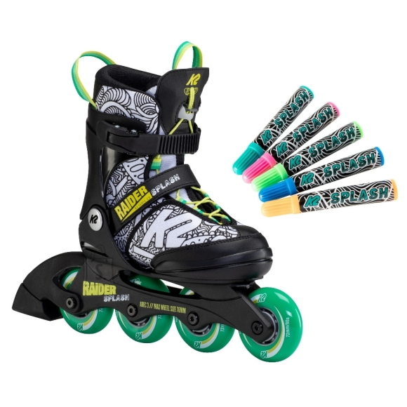 K2 Adjustable Rollerblades K2 Raider Splash 2021 - S (29-34)