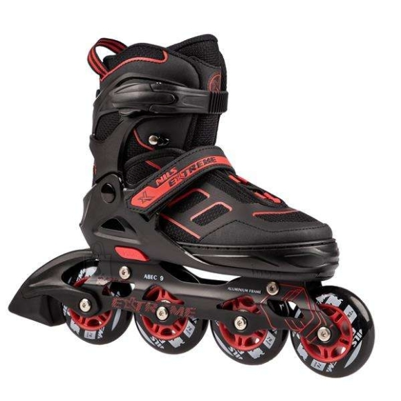Nils Extreme In-Line Skates Nils Extreme NA14174 Black-Red - PU70 mm/82A (S 31-34)