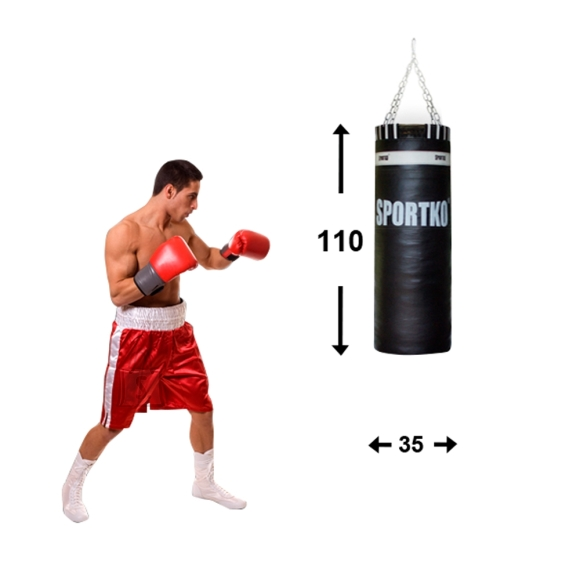 Leather Punching Bag SportKO 35x110cm