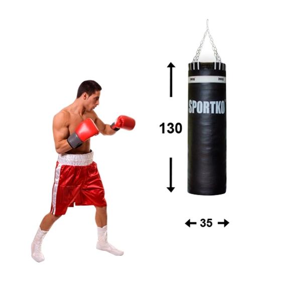 Leather Punching Bag SportKO 35x130cm