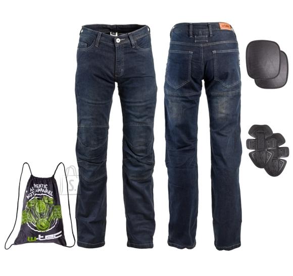 W-Tec Men???s Moto Jeans W-TEC Pawted - Dark blue XL