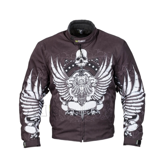 W-Tec Moto Jacket W-TEC Akyra - Black with Graphics L