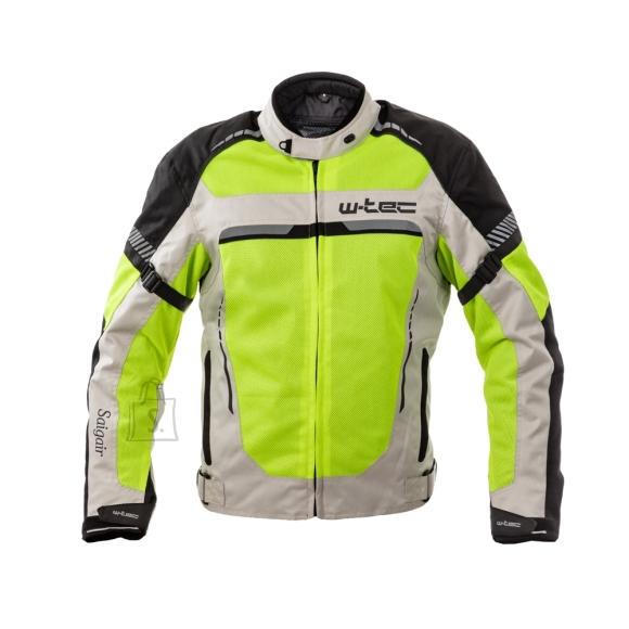 W-Tec Men???s Summer Motorcycle Jacket W-TEC Saigair - Fluo Yellow-Gray 3XL