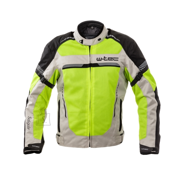 W-Tec Men???s Summer Motorcycle Jacket W-TEC Saigair - Fluo Yellow-Gray 6XL