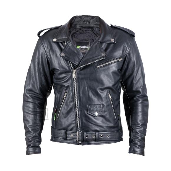 W-Tec Leather Motorcycle Jacket W-TEC Perfectis - Black 4XL