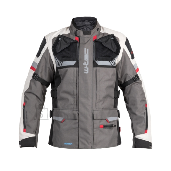 W-Tec Touring Motorcycle Jacket W-TEC Excellenta - Thunderstorm Gray XL