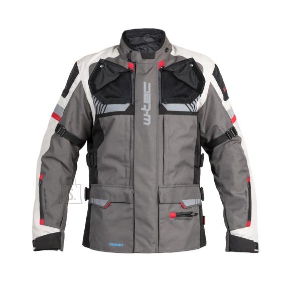 W-Tec Touring Motorcycle Jacket W-TEC Excellenta - Thunderstorm Gray 4XL