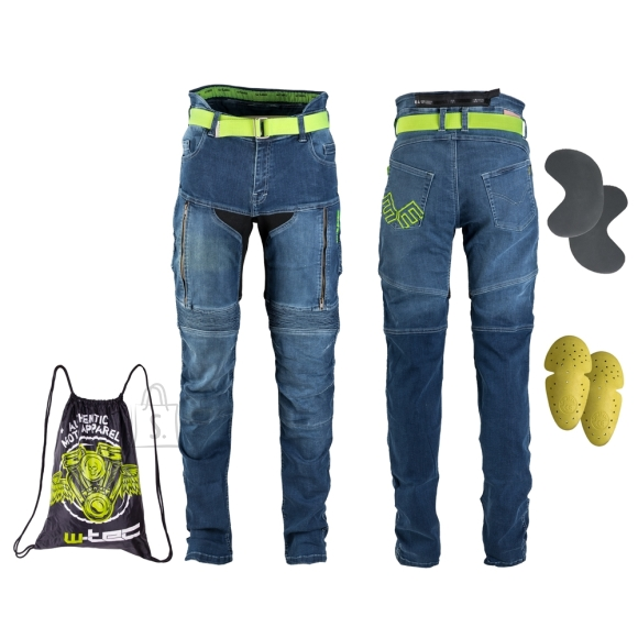 W-Tec Women???s Motorcycle Jeans W-TEC Ekscita - Blue 30