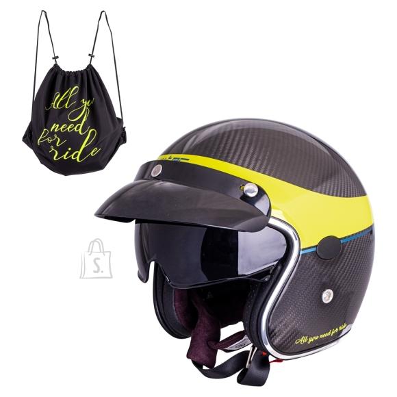 W-Tec Motorcycle Helmet W-TEC Vacabro - Glossy Carbon S(55-56)