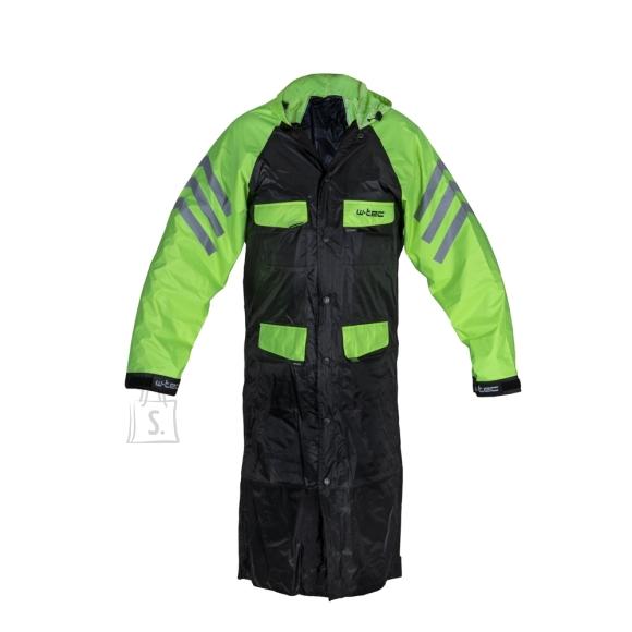 W-Tec Motorcycle Raincoat W-TEC Quilda - Black-Fluo Yellow L