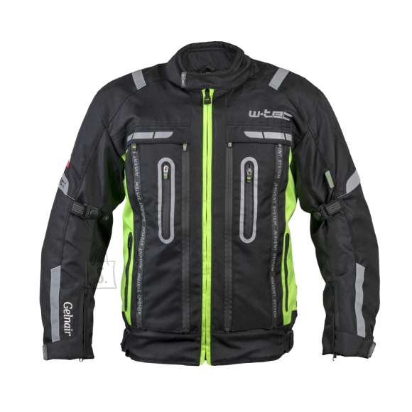 W-Tec Motorcycle Jacket W-TEC Gelnair - Black-Green L