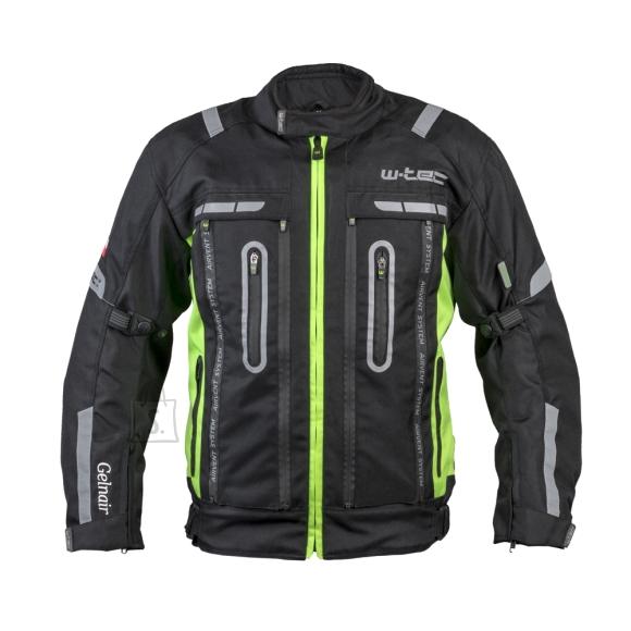 W-Tec Motorcycle Jacket W-TEC Gelnair - Black-Green 5XL