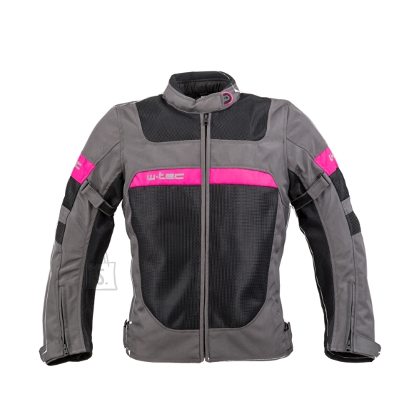 W-Tec Women???s Summer Motorcycle Jacket W-TEC Monaca - Black Mesh-Pink S
