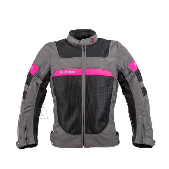 W-Tec Women???s Summer Motorcycle Jacket W-TEC Monaca - Black Mesh-Pink XL
