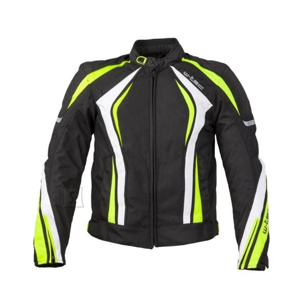 W-Tec Men???s Motorcycle Jacket W-TEC Chagalero - Black-Yellow-White 4XL