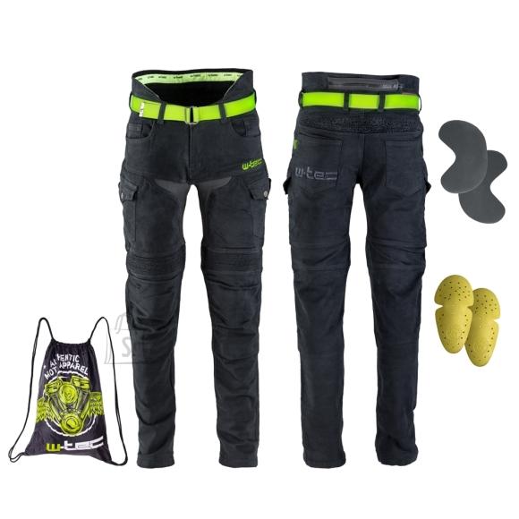 W-Tec Men???s Motorcycle Jeans W-TEC Aredator - Black 44