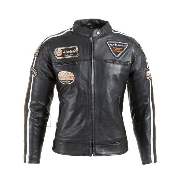 W-Tec Women's Leather Motorcycle Jacket W-TEC Sheawen Lady - Black XS