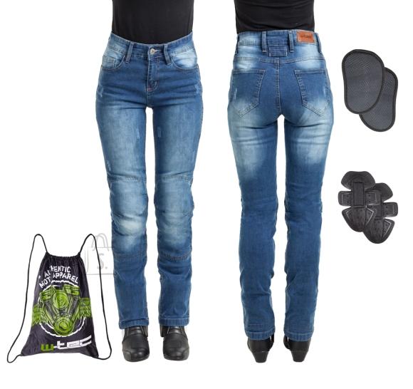 W-Tec Women???s Moto Jeans W-TEC Panimali - Blue 3XL