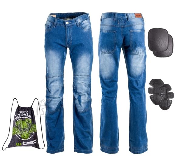 W-Tec Men???s Moto Jeans W-TEC Shiquet - Blue 4XL