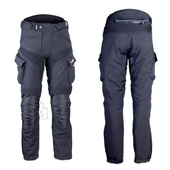 W-Tec Men's Softshell Moto Pants W-TEC Erkalis GS-1729 - Black XXL