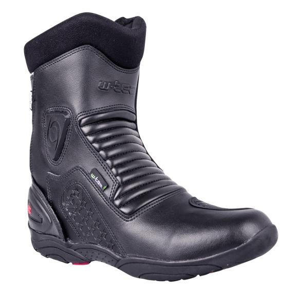 W-Tec Leather Moto Boots W-TEC Benkoff NF-6052 - Black 39
