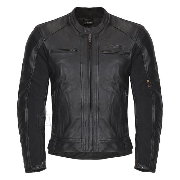 W-Tec Men???s Leather Moto Jacket W-TEC Mardok NF-1121 - Black XXL