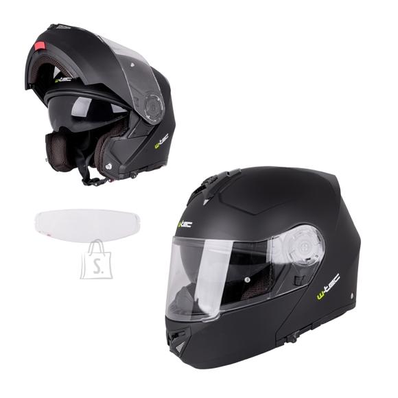 W-Tec Flip-Up Motorcycle Helmet W-TEC Vexamo V270 PP - Matte Black XS (53-54)