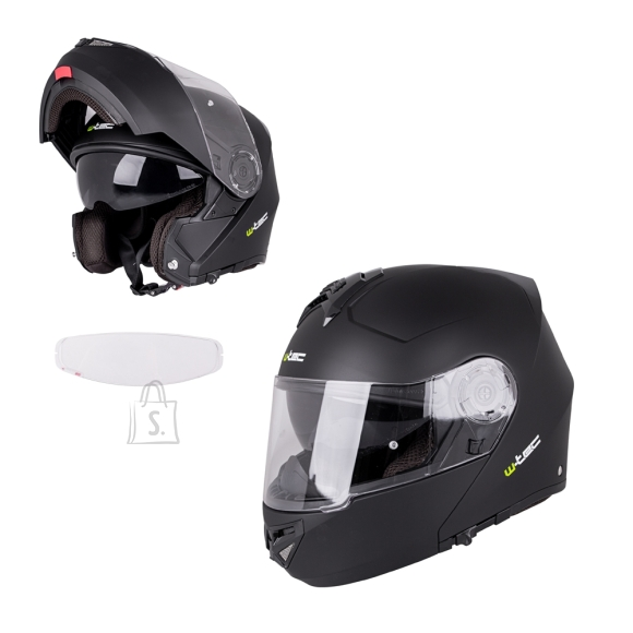 W-Tec Flip-Up Motorcycle Helmet W-TEC Vexamo V270 PP - Matte Black S(55-56)