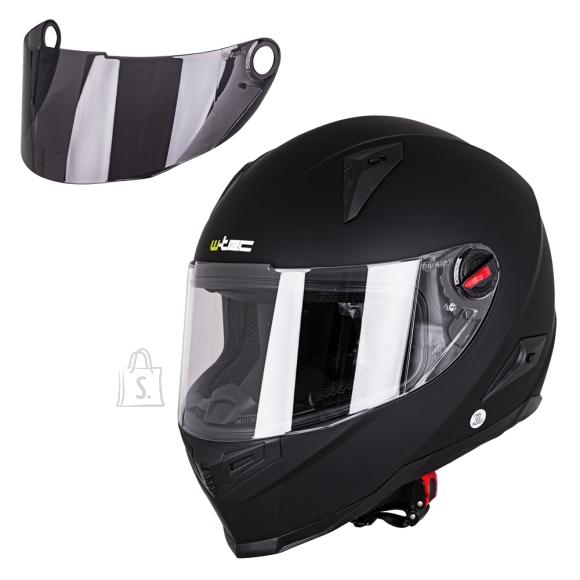 W-Tec Integral Motorcycle Helmet W-TEC NK-863 - Matte Black S(55-56)