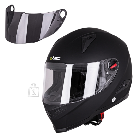 W-Tec Integral Motorcycle Helmet W-TEC NK-863 - Matte Black M (57-58)