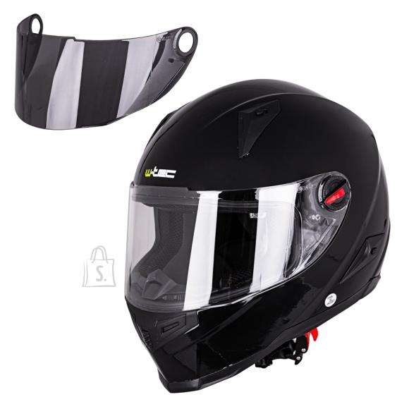 W-Tec Integral Motorcycle Helmet W-TEC NK-863 - Black Glossy M (57-58)