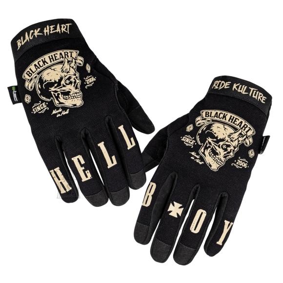 W-Tec Motorcycle Gloves W-TEC Black Heart Rioter - Black M