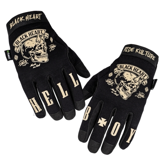 W-Tec Motorcycle Gloves W-TEC Black Heart Rioter - Black XL