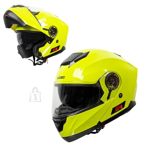 W-Tec Flip-Up Motorcycle Helmet W-TEC Lanxamo - Fluo Yellow S(55-56)