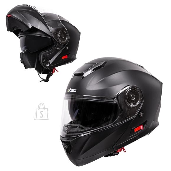 W-Tec Flip-Up Motorcycle Helmet W-TEC Lanxamo - Matt Black S(55-56)