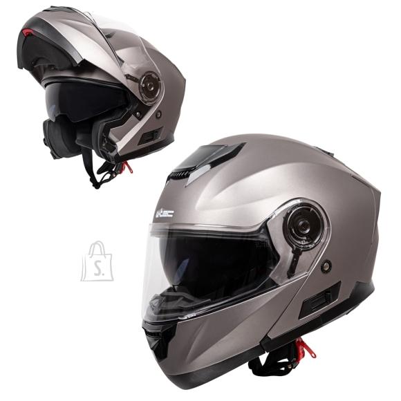 W-Tec Flip-Up Motorcycle Helmet W-TEC Lanxamo - Titan Grey S(55-56)