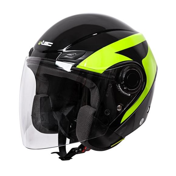 W-Tec Motorcycle Helmet W-TEC Nankko Black-Fluo - XS (53-54)