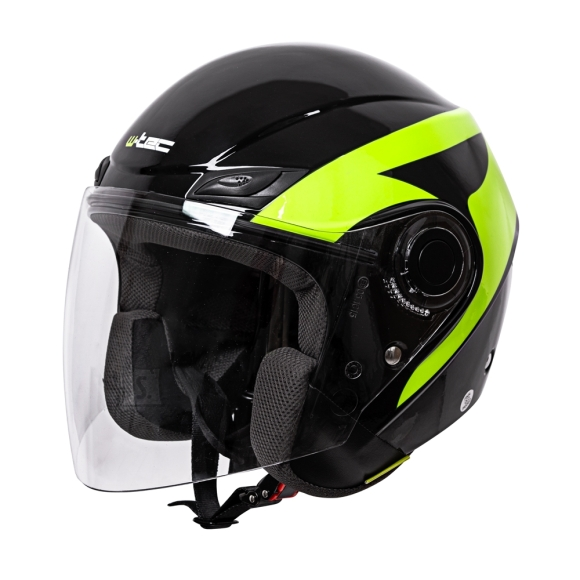 W-Tec Motorcycle Helmet W-TEC Nankko Black-Fluo - M (57-58)