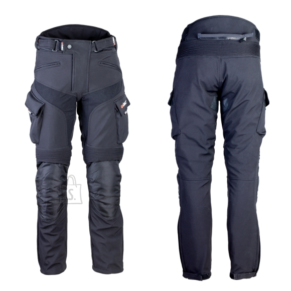 W-Tec Men's Softshell Moto Pants W-TEC Erkalis GS-1729 - Black 5XL