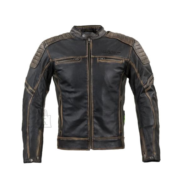 W-Tec Leather Motorcycle Jacket W-TEC Mungelli - Vintage Brown 6XL