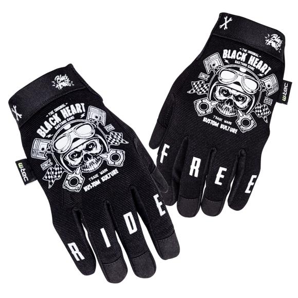 W-Tec Motorcycle Gloves W-TEC Piston Skull - Black 3XL