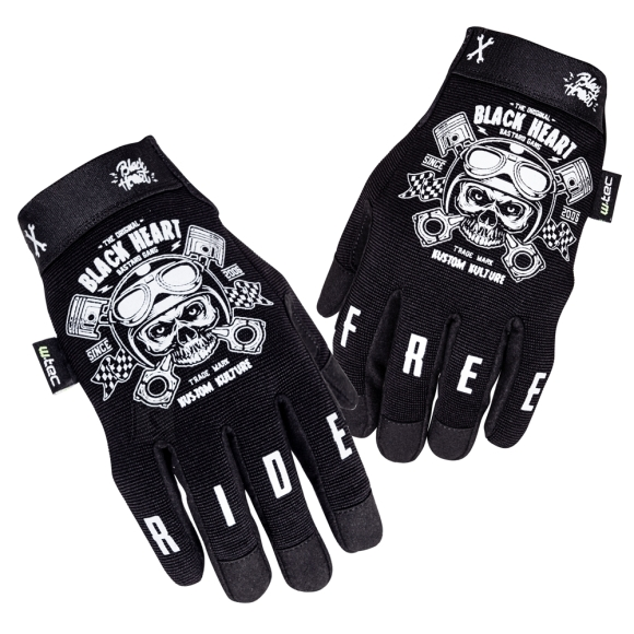 W-Tec Motorcycle Gloves W-TEC Piston Skull - Black 4XL
