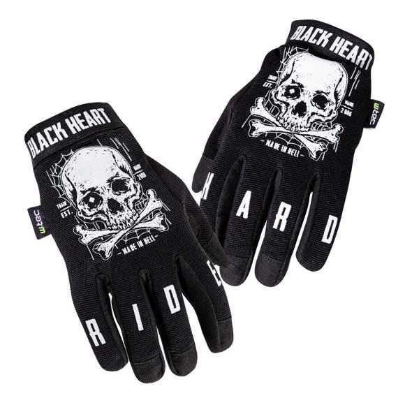W-Tec Motorcycle Gloves W-TEC Web Skull - Black 4XL