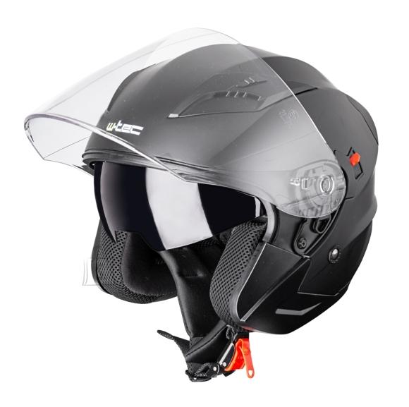 W-Tec Motorcycle Helmet W-TEC YM-627 - Pure Matt Black M (57-58)