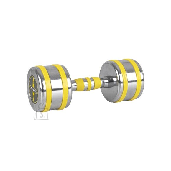 inSPORTline Chrome Dumbbell inSPORTline Yellsteel 10 kg
