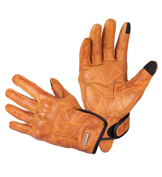 W-Tec Leather Motorcycle Gloves W-Tec Dahmer - Light Brown 3XL